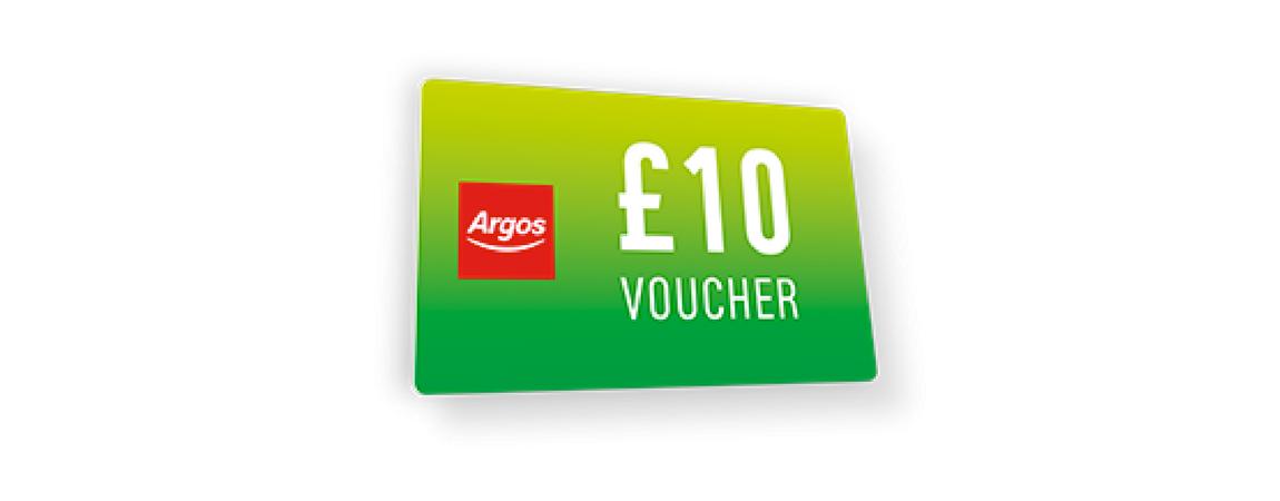Argos  10 voucher student discount