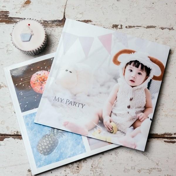 Square square softcover photo book