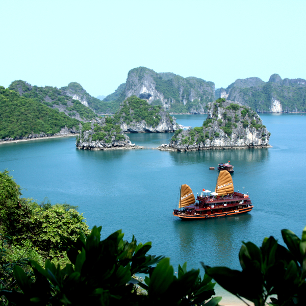 Asia cruise junk in halong bayyd