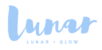 Mini square lunar glow blue on transparent copy